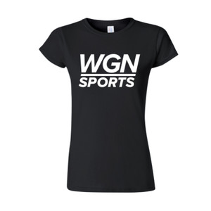 Women's Black WGN Sports T-shirt